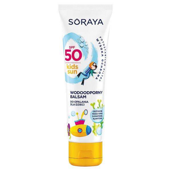 Balsam do opalania dla dzieci soraya spf50 masło shea, d-pan.
