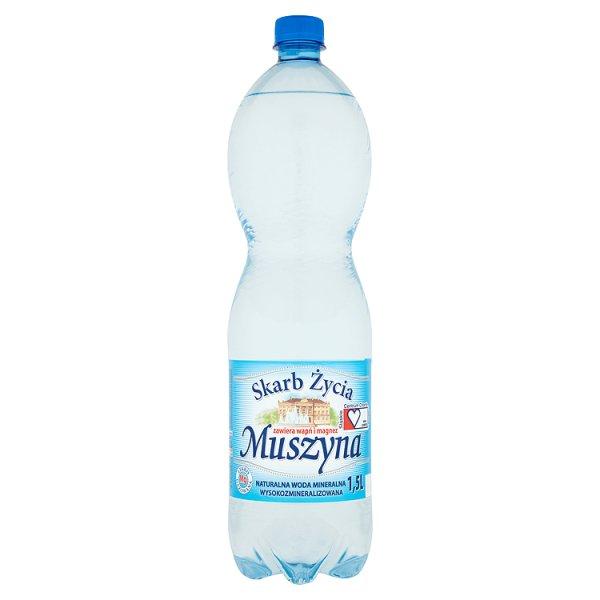 Muszyna Skarb Życia Naturalna woda mineralna wysokozmineralizowana lekko gazowana 1,5 l
