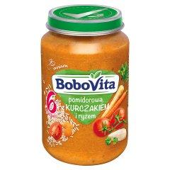 Zupka Bobovita    pomidorowa z kurczakiem i ryżem