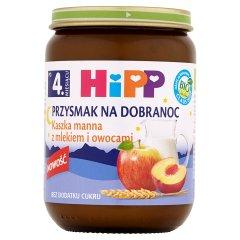 HiPP BIO Przysmak na Dobranoc Kaszka manna z mlekiem i owocami po 4. miesiącu 190 g