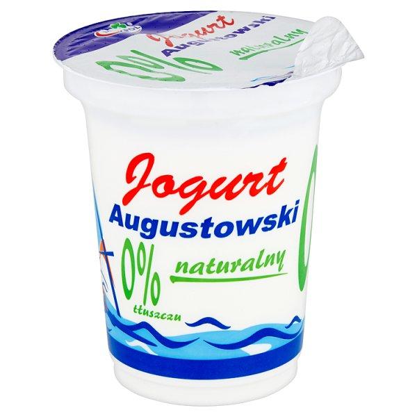 Mlekpol Jogurt Augustowski naturalny 0% tłuszczu 350 g