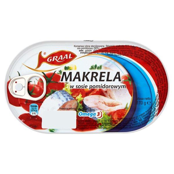 GRAAL Makrela w sosie pomidorowym 170 g