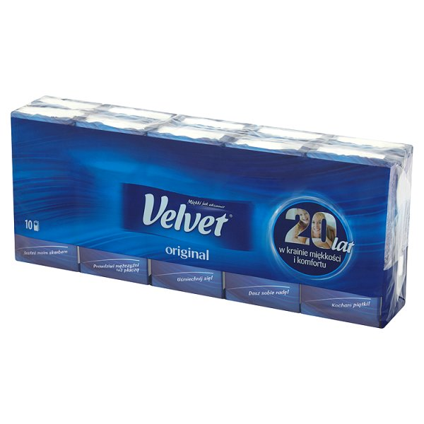 Chusteczki higieniczne Velvet original /10*9szt
