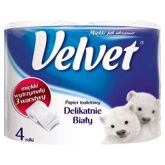 Velvet Delikatnie Biały Papier toaletowy 4 rolki