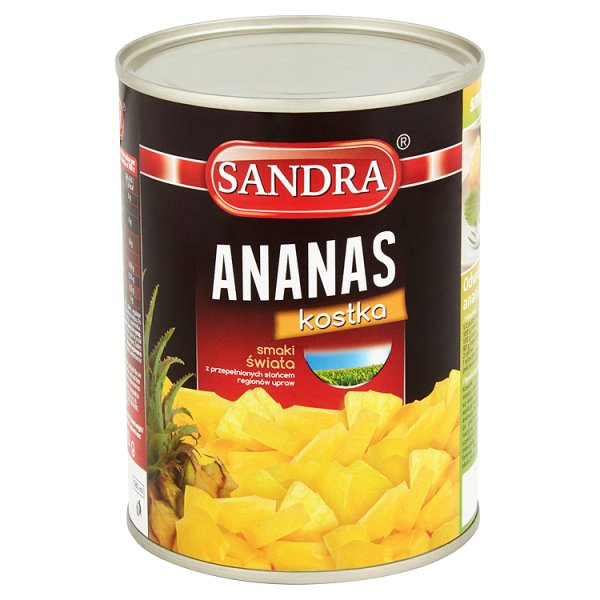 Ananas Sandra kostka w syropie kostka