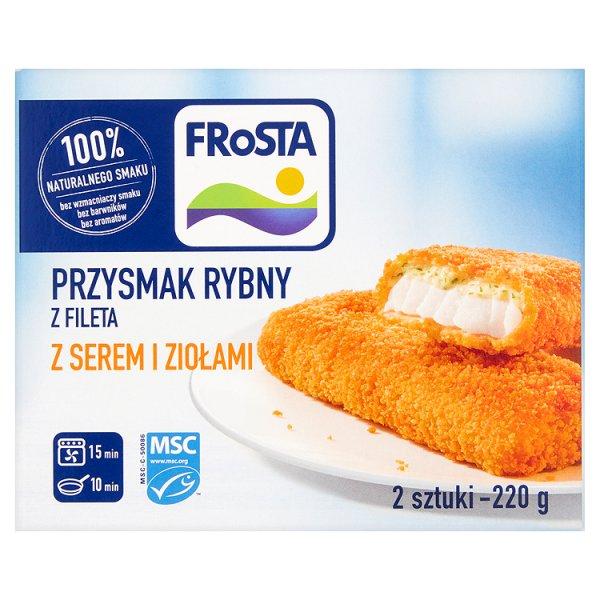 FRoSTA Przysmak rybny z fileta z serem i ziołami 220 g (2 sztuki)