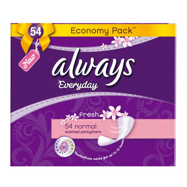 Always Everyday Normal Fresh Wkładki higieniczne, 54 sztuki