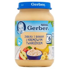Gerber Jabłka i banany z kremowym twarożkiem po 6 miesiącu 190 g