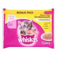 Whiskas drobiowe galaretka 4*100g