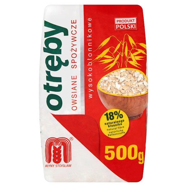 Młyny Stoisław Otręby owsiane spożywcze wysokobłonnikowe 500 g