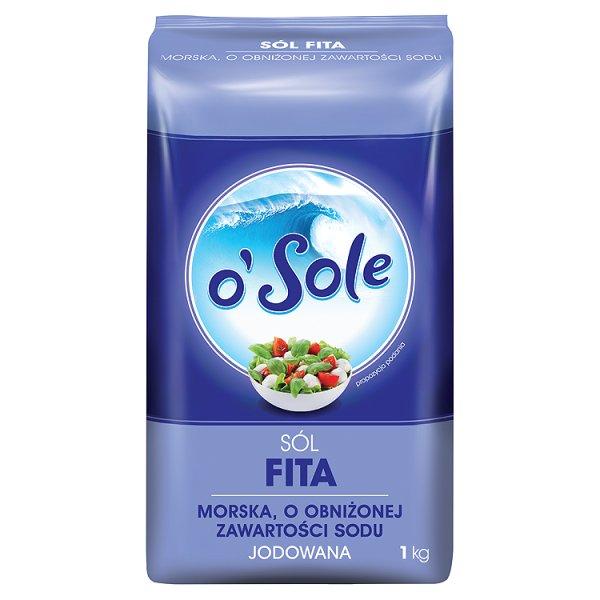 o'Sole Sól Fita morska o obniżonej zawartości sodu jodowana 1 kg