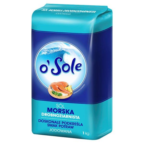 Sól O'sole morska jodowana drobnoziarnista