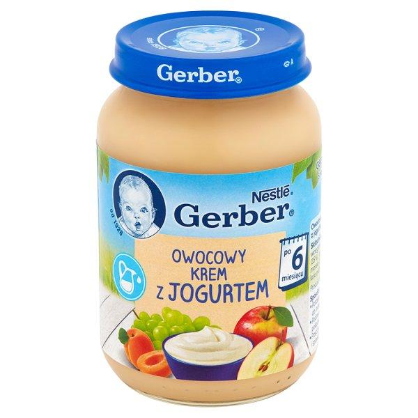 Gerber Owocowy krem z jogurtem po 6 miesiącu 190 g