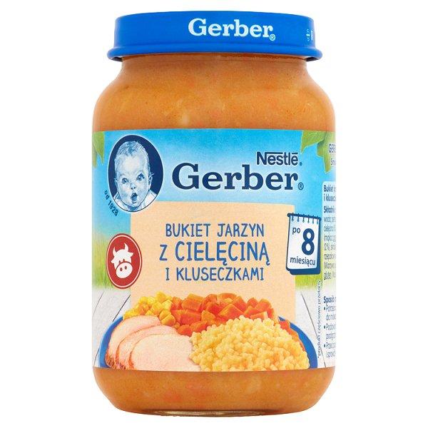 Gerber Bukiet jarzyn z cielęciną i kluseczkami po 8 miesiącu 190 g