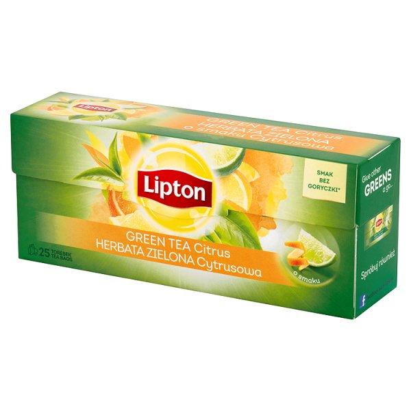 Herbata Lipton zielona citrus 25*1,3g