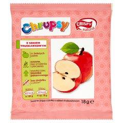 Crispy Natural Chrupsy Suszone chipsy z jabłka z sokiem truskawkowym 18 g