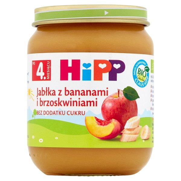 HiPP BIO Jabłka z bananami i brzoskwiniami po 4. miesiącu 125 g