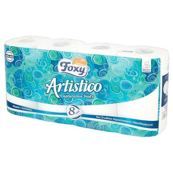 Papier toaletowy Foxy Artistico biały 8/rolek