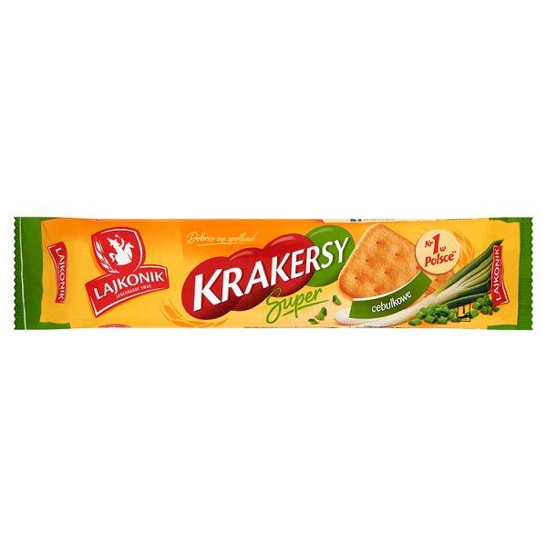 Lajkonik Krakersy Super cebulkowe 180 g