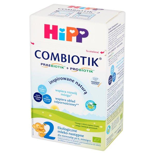 HiPP Combiotik 2 Ekologiczne mleko następne dla niemowląt po 6. miesiącu 600 g