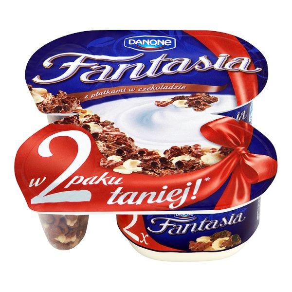 Jogurt Fantasia kremowy płatki czekoladowe/2*105g