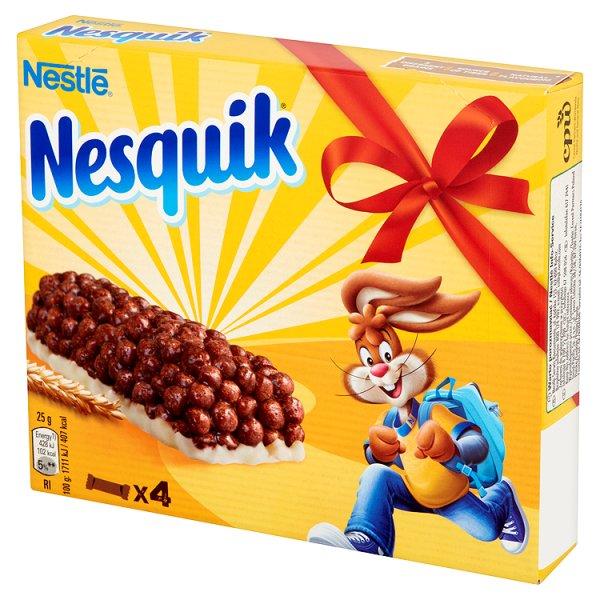 Nestlé Nesquik Batonik zbożowy 100 g (4 x 25 g)