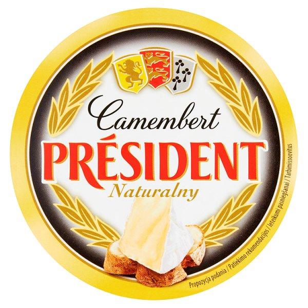 Président Camembert naturalny Ser pełnotłusty 120 g