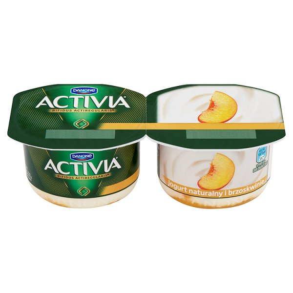 Jogurt Activia naturalny brzoskwinia 2*120g