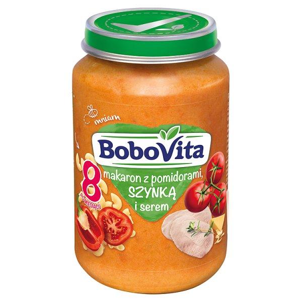 BoboVita Makaron z pomidorami szynką i serem po 8 miesiącu 190 g