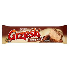 Wafelk Grześki dzel na 6 kakaowe