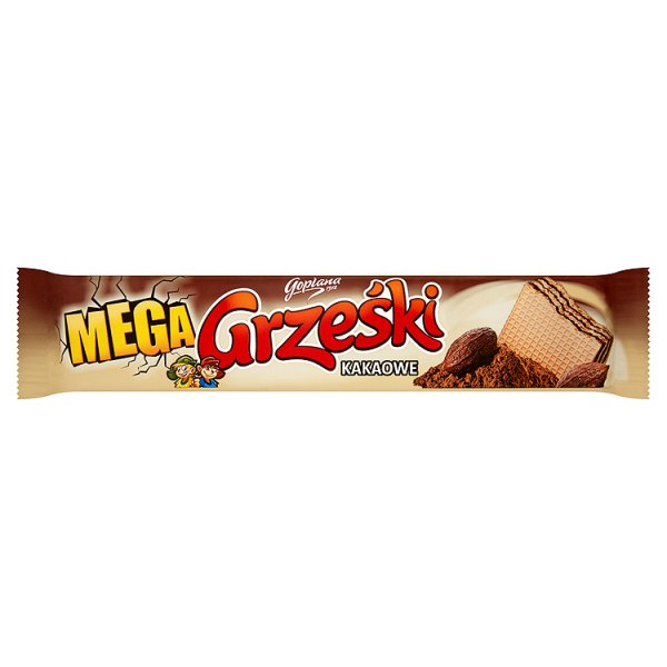 Wafle Grześki mega kakaowe