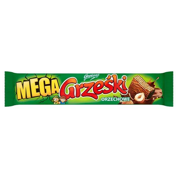 Wafelki Grześki mega orzechowy w czekoladzie mlecznej
