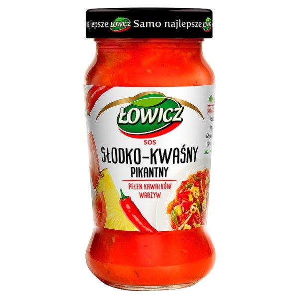 Łowicz Sos słodko-kwaśny pikantny 350 g