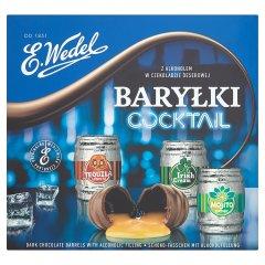 E. Wedel Cocktail Baryłki z alkoholem w czekoladzie deserowej 200 g