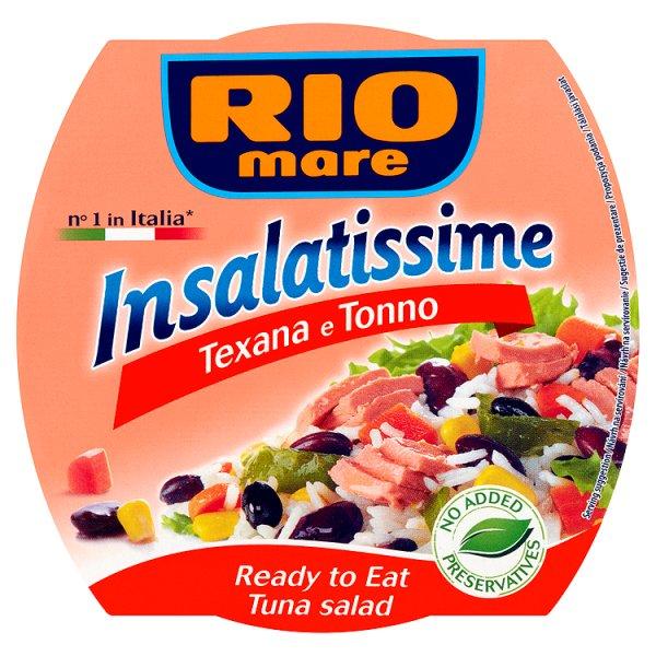 Rio Mare Insalatissime Texana e Tonno Gotowe danie z warzyw i tuńczyka 160 g
