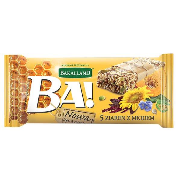 Bakalland Ba! 5 ziaren z miodem Baton 40 g