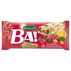 Baton zbożowy Ba! żurawina i pomarańcza Bakalland