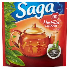 Saga Herbata czarna 126 g (90 torebek)