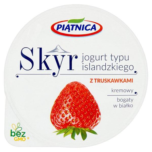 Piątnica Skyr Jogurt typu islandzkiego z truskawkami 150 g