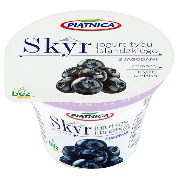 Piątnica Skyr Jogurt typu islandzkiego z jagodami 150 g