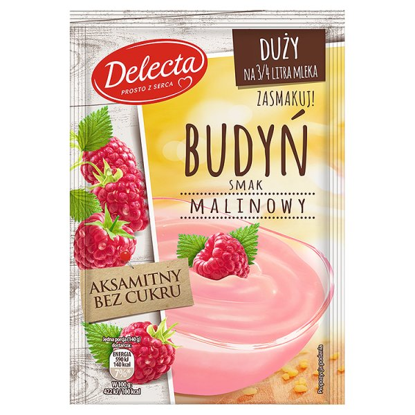 Delecta Budyń smak malinowy 64 g