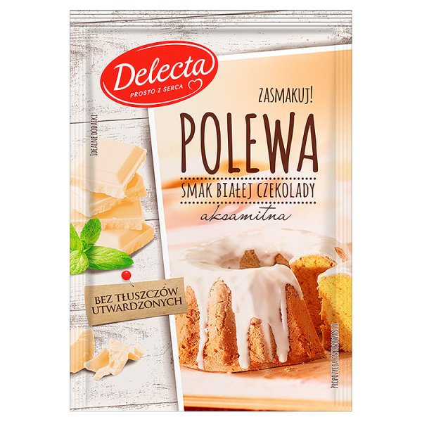 Polewa Delecta biała czekolada