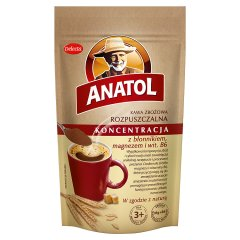 Kawa Anatol zbożowa koncentracyjna z błonnikiem, magnezem i wit. B6