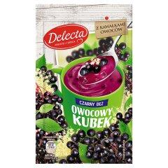 Kisiel Delecta smak czarnego bzu z kawałkami owoców