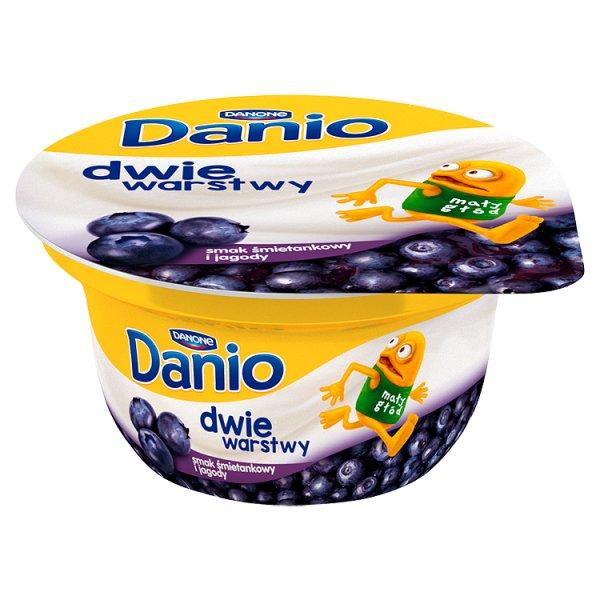 Danio serek homogenizowany o smaku śmietankowym z jagodami