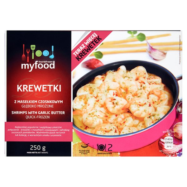 Krewetki z masłem czosnkowym Myfood