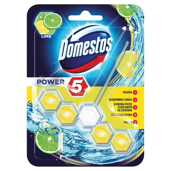 Domestos Power 5 Lime Kostka toaletowa 55 g