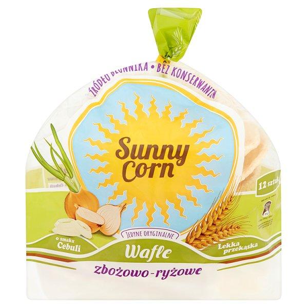 Wafle Sunny Corn zbożowo-ryżowe o smaku cebuli