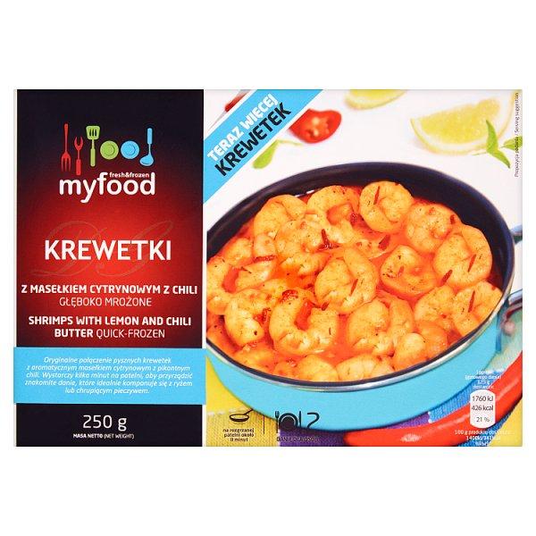 Krewetki z masełkiem cytrynowym i chili Myfood