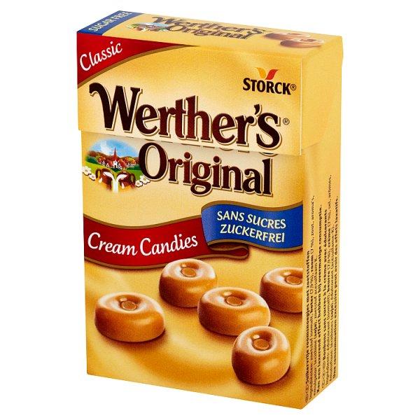 Werther's original cukierki śmietankowe bez cukru.